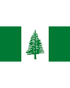 Fahne: Norfolkinsel