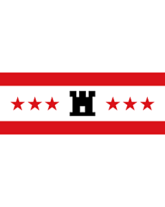 Fahne: Drenthe