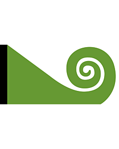 Fahne: Koru | This image shows the popular Koru Flag