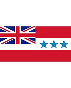 Fahne: Rarotonga 1888-1893 | Rarotonga  now Cook Islands  from 1858 to 1893 | Het Koninkrijk Rarotonga tussen 1858 en 1893