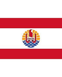 Fahne: Französisch-Polynesien