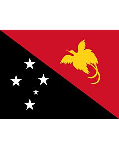 Fahne: Papua-Neuguinea