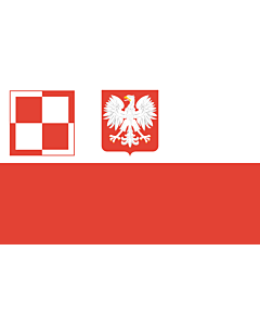 Fahne: PL air force flag PRL | Polish Air Force flag  1959-1993 | Lotnictwa wojskowego  1959-1993