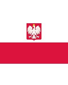Fahne: Poland  state | State flag of Poland | Polski z godłem