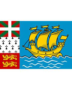 Fahne: Saint-Pierre und Miquelon