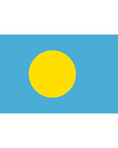Fahne: Palau