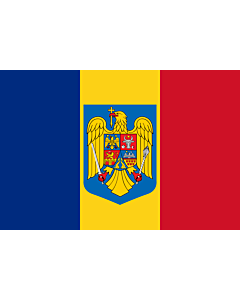 Fahne: Romania coat of arms | Romania with the coat of arms