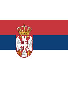 Fahne: Serbien