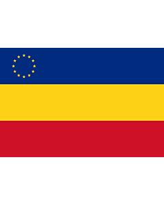 Fahne: Romanian minority in Serbia | Serbia rumeenlaste lipp | Rumunjske nacionalne manjine u Srbiji | Флаг румын в Сербии