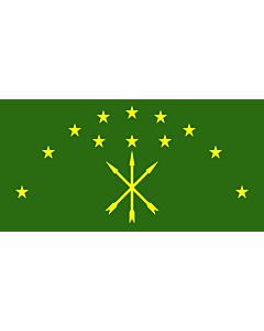 Fahne: Republik Adygeja