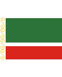 Fahne: Tschetschenien (Tschetschenische Republik)