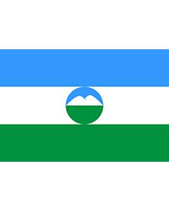Fahne: Kabardino-Balkarien