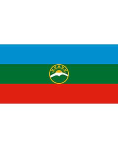 Fahne: Karatschai-Tscherkessien