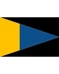 Fahne: Naval Rank Flag of Sweden - Örlogsgaljadet | Command pennant | Örlogsgaljadet