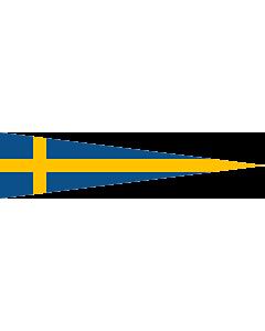 Fahne: Naval Rank Flag of Sweden - Divisionschef | Swedish naval rank flag for a Division Commander | Tecken för förbandschef Divisionschef