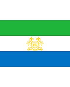 Fahne: Standard of Ambassadors of Sierra Leone   Standard of ambassadors of Sierra Leone