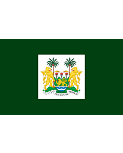 Fahne: President of Sierra Leone   Standard of the President of Sierra Leone