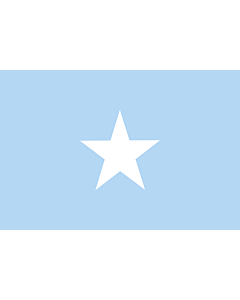Fahne: Somalia Sky Blue
