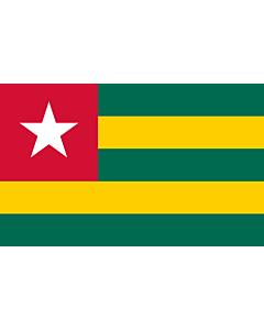 Fahne: Togo