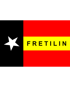 Fahne: FRETILIN  East Timor | FRETILIN | FRETILIN nian