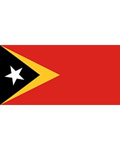 Fahne: Osttimor (Timor-Leste)