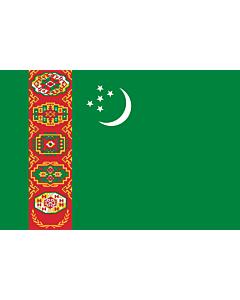 Fahne: Turkmenistan