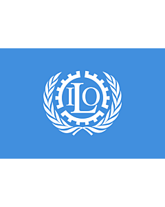 Fahne: Internationale Arbeitsorganisation