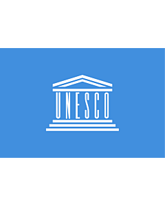 Fahne: Organisation der Vereinten Nationen für Bildung