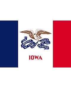 Fahne: Iowa