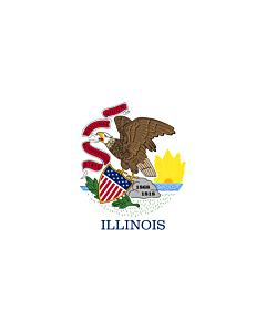 Fahne: Illinois