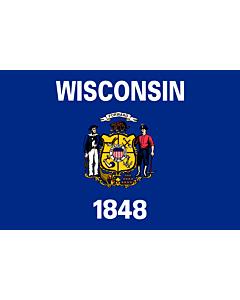 Fahne: Wisconsin