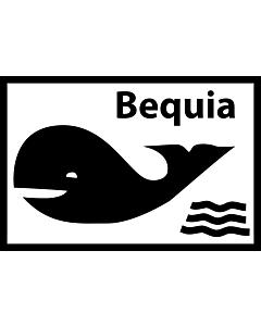 Fahne: Inoffizielle Fahne der Insel Bequia/St
