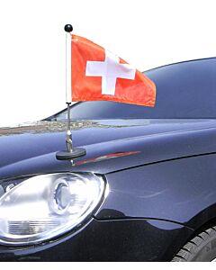 magnetisch haftender Autofahnen-Ständer Diplomat-1 Schweiz