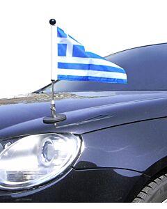 magnetisch haftender Autofahnen-Ständer Diplomat-1 Griechenland