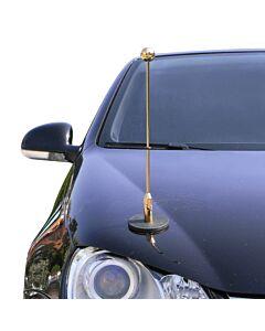 magnetisch haftender Autofahnen-Ständer Diplomat-1.30-Gold