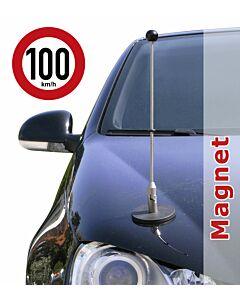 magnetisch haftender Autofahnen-Ständer Diplomat-1