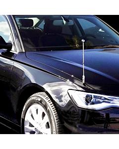 Autofahnen-Ständer Diplomat-Z-Chrome-AUDI  für Audi A6 & A8
