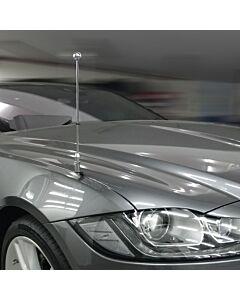 Autofahnen-Ständer Diplomat-Z-Chrome-PRO-Jaguar-XF-X260  für Jaguar-XF-X260 (2015-)